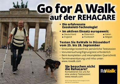 Go for a Walk auf der Rehacare! ReWalk