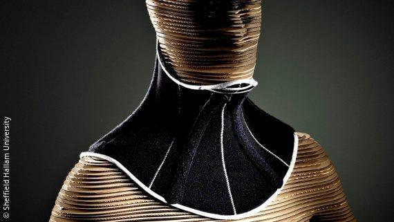 Photo: Head Up Collar on a body model; Copyright: Sheffield Hallam University