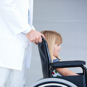 Photo: Girl in wheelchair