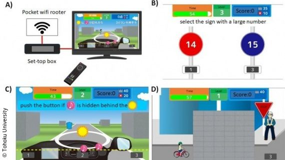 Cognitive training game to improve driving skills among the
