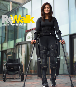 Foto: ReWalk Exoskelett; Copyright: ReWalk Robotics GmbH