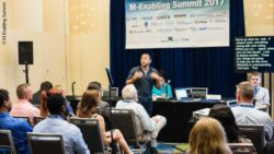 Foto: Redner bei der Konferenz während des M-Enabling Summits 2017 in Washington; Copyright: M-Enabling Summit