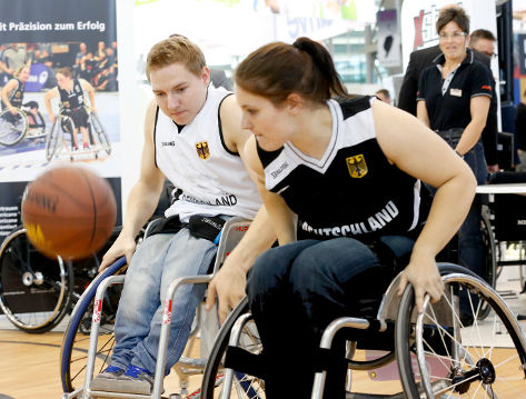 Foto: Basketball im Sport-Center; © Messe Düsseldorf