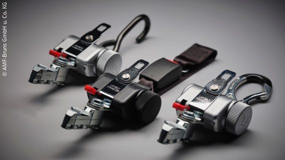 Image: three occupant and wheelchair restraint systems; Copyright: AMF-Bruns GmbH & Co. KG