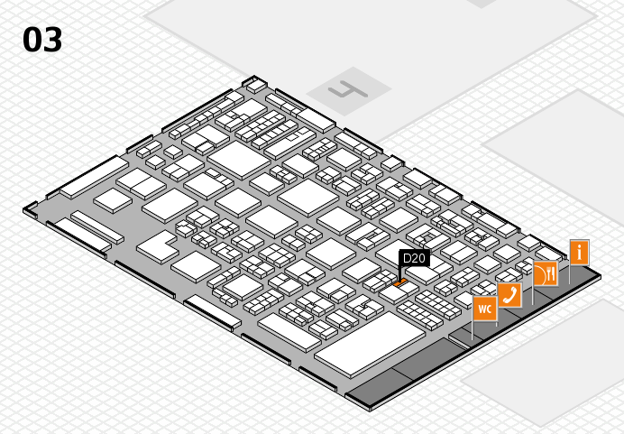 REHACARE 2016 hall map (Hall 3): stand D20