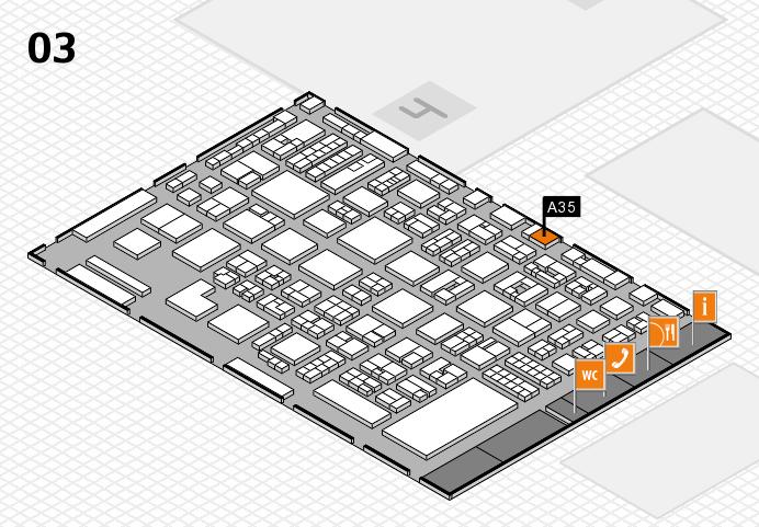 REHACARE 2016 Hallenplan (Halle 3): Stand A35