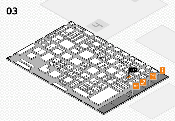REHACARE 2016 hall map (Hall 3): stand D17