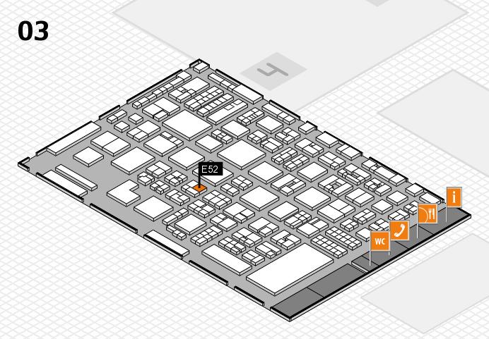 REHACARE 2016 hall map (Hall 3): stand E52