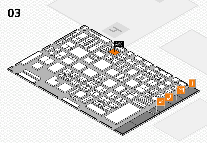 REHACARE 2016 hall map (Hall 3): stand A60