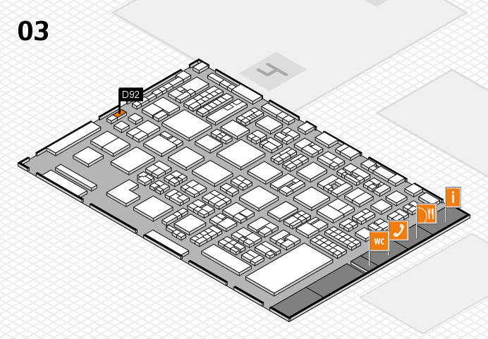 REHACARE 2016 hall map (Hall 3): stand D92