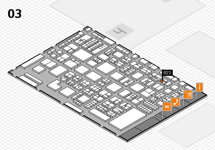 REHACARE 2016 hall map (Hall 3): stand B23