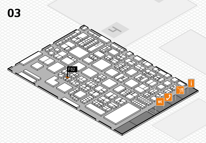 REHACARE 2016 hall map (Hall 3): stand F62