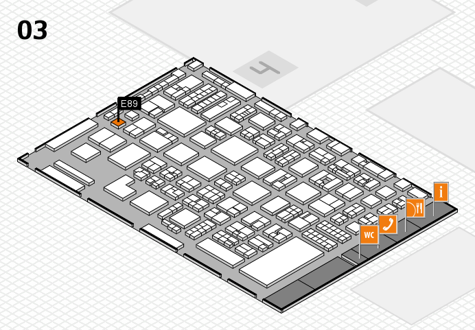 REHACARE 2016 hall map (Hall 3): stand E89