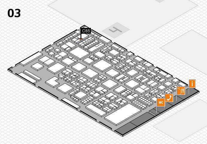 REHACARE 2016 hall map (Hall 3): stand C85