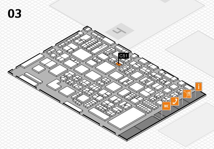 REHACARE 2016 hall map (Hall 3): stand C51