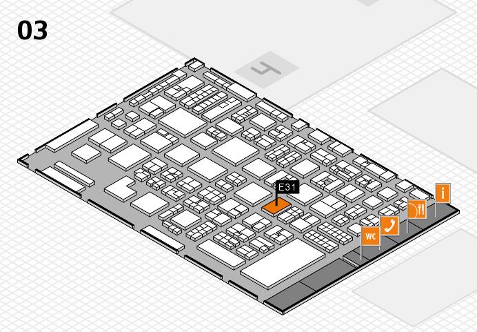 REHACARE 2016 Hallenplan (Halle 3): Stand E31