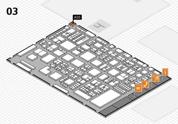 REHACARE 2016 hall map (Hall 3): stand A95