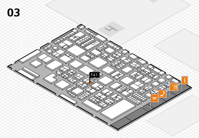REHACARE 2016 hall map (Hall 3): stand F41