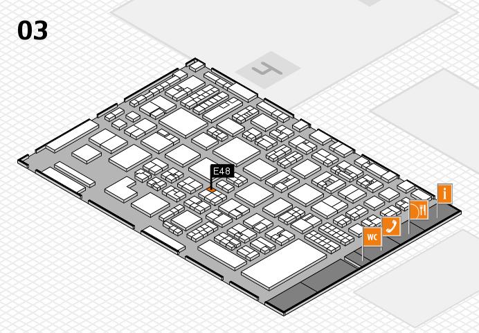 REHACARE 2016 hall map (Hall 3): stand E48