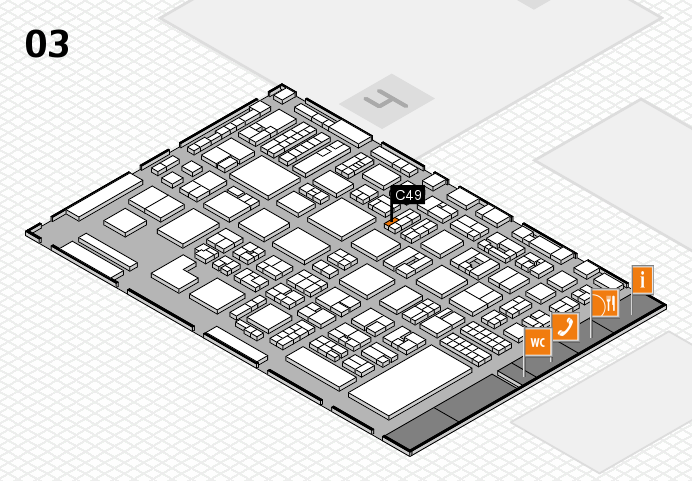 REHACARE 2016 Hallenplan (Halle 3): Stand C49