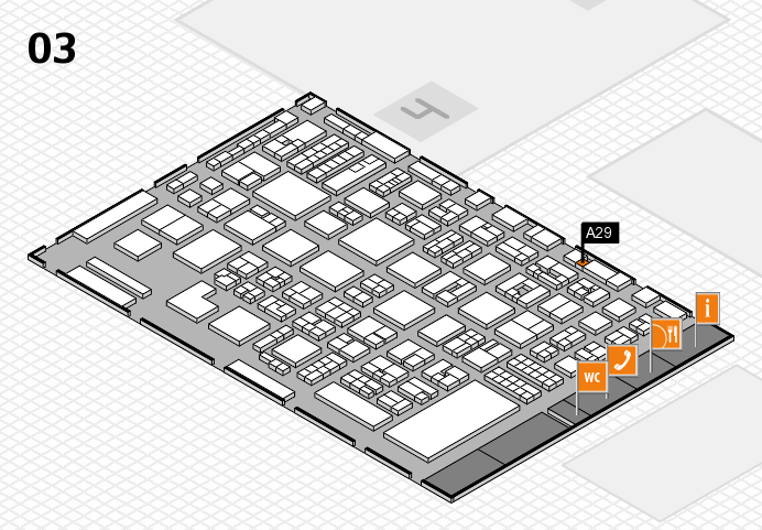 REHACARE 2016 hall map (Hall 3): stand A29