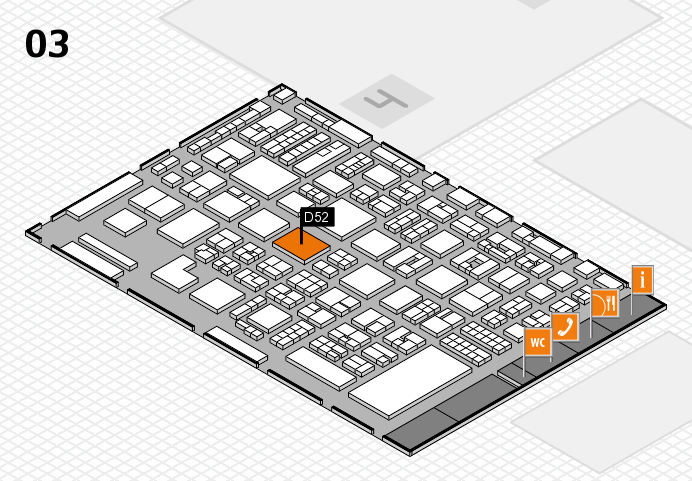 REHACARE 2016 hall map (Hall 3): stand D52