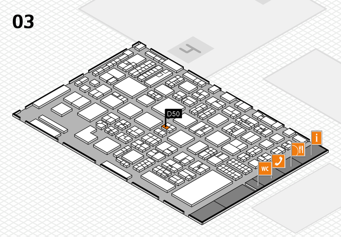 REHACARE 2016 hall map (Hall 3): stand D50