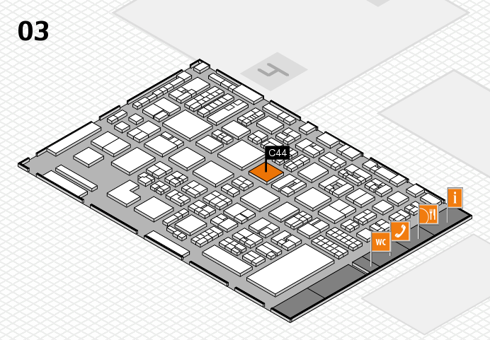 REHACARE 2016 hall map (Hall 3): stand C44