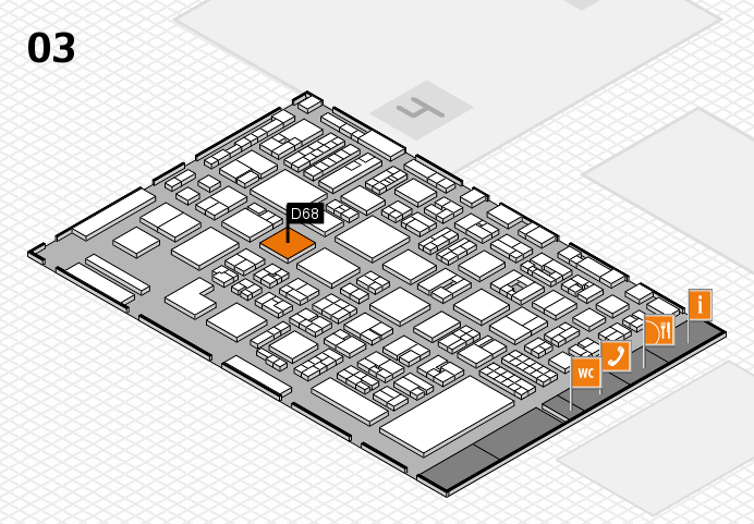 REHACARE 2016 hall map (Hall 3): stand D68