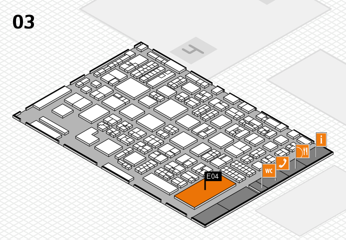 REHACARE 2016 Hallenplan (Halle 3): Stand E04