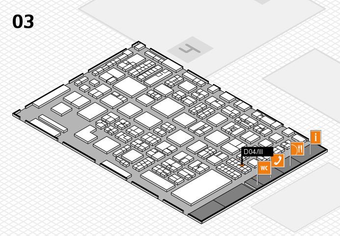 REHACARE 2016 hall map (Hall 3): stand D04.III