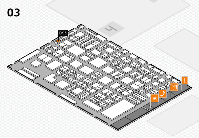 REHACARE 2016 hall map (Hall 3): stand D95