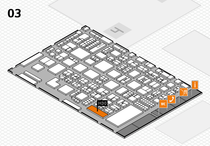 REHACARE 2016 hall map (Hall 3): stand H30
