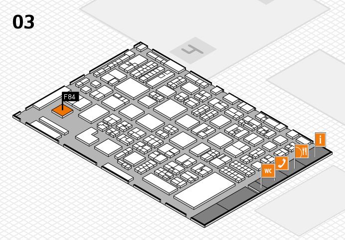 REHACARE 2016 hall map (Hall 3): stand F84