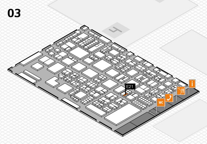 REHACARE 2016 hall map (Hall 3): stand E21