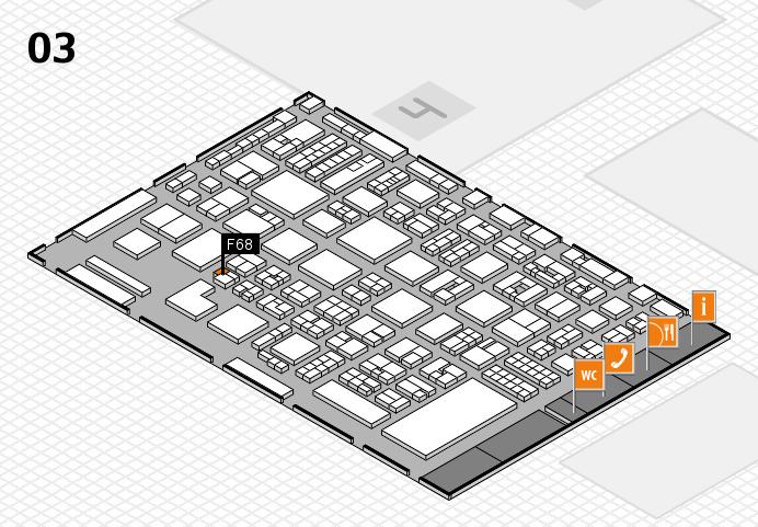 REHACARE 2016 hall map (Hall 3): stand F68