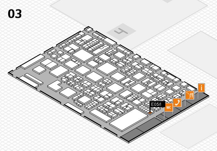 REHACARE 2016 hall map (Hall 3): stand E05.I