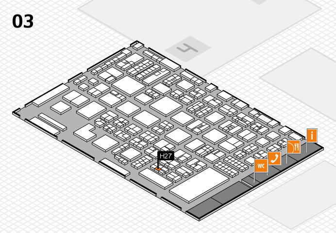 REHACARE 2016 hall map (Hall 3): stand H27
