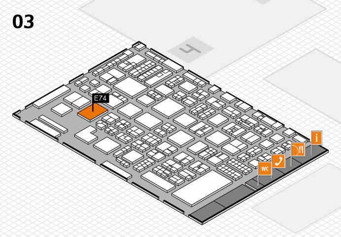 REHACARE 2016 Hallenplan (Halle 3): Stand E74
