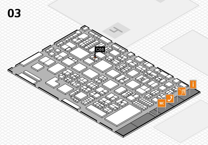 REHACARE 2016 hall map (Hall 3): stand C66