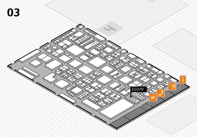 REHACARE 2016 hall map (Hall 3): stand E03.IV