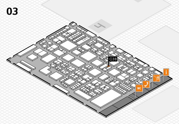 REHACARE 2016 hall map (Hall 3): stand C38