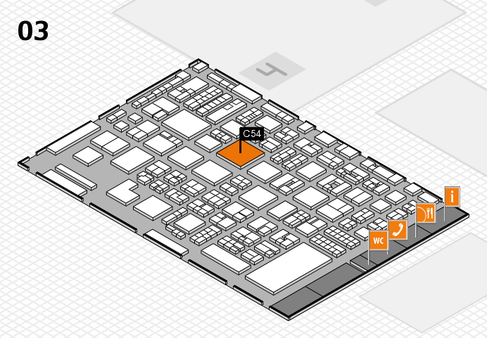 REHACARE 2016 hall map (Hall 3): stand C54