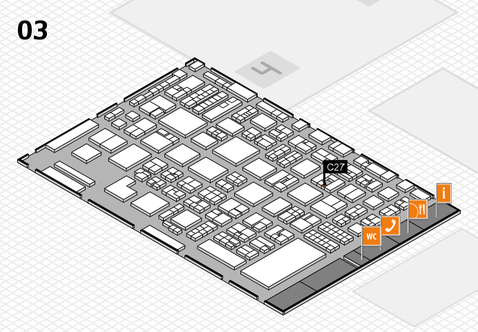 REHACARE 2016 hall map (Hall 3): stand C27