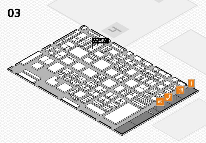 REHACARE 2016 hall map (Hall 3): stand A74.IV