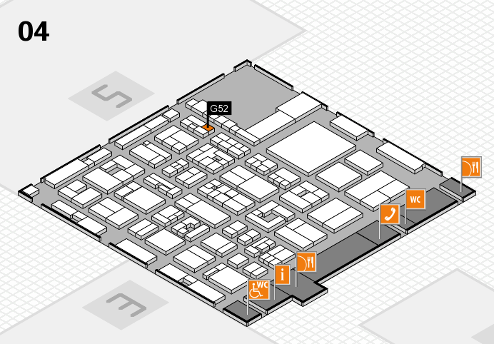 REHACARE 2016 hall map (Hall 4): stand G52