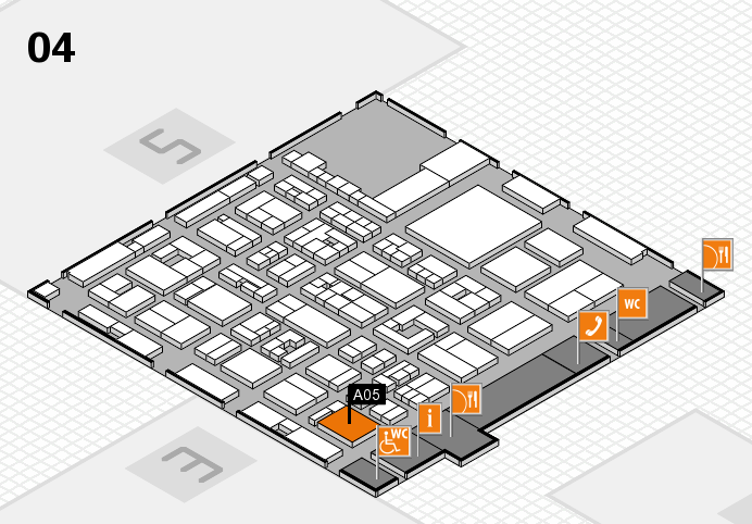 REHACARE 2016 hall map (Hall 4): stand A05