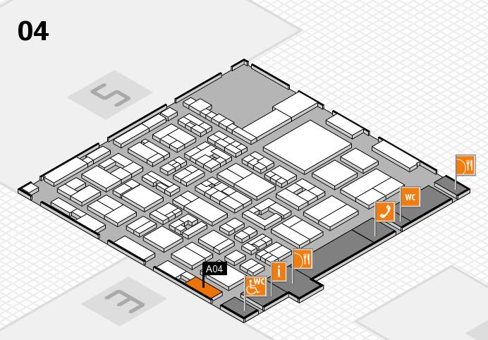 REHACARE 2016 Hallenplan (Halle 4): Stand A04