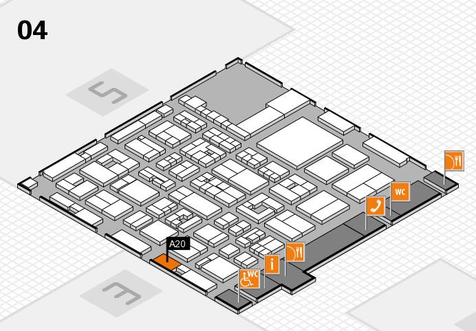 REHACARE 2016 Hallenplan (Halle 4): Stand A20
