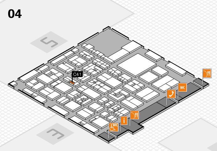 REHACARE 2016 Hallenplan (Halle 4): Stand C41